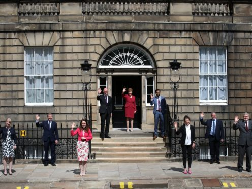 MSPS gave their seal of approval to the new ministers (Andrew Milligan/PA)