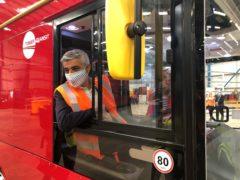 Mayor of London Sadiq Khan during a visit to Switch Mobility (Amy Murphy/PA)