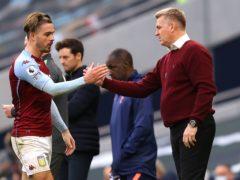 Dean Smith (right) has guided Aston Villa to 11th in the Premier League. (Richard Heathcote/PA)