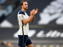 Harry Kane went to all four corners of the ground to salute the fans at full-time (Daniel Leal-Olivas/PA)
