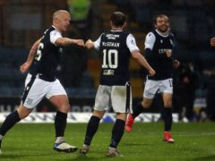 Paul McGowan (centre) believes Dundee should have killed off Kilmarnock on Thursday night (Andrew Milligan/PA)