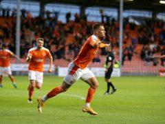 Blackpool's Jerry Yates celebrates (Richard Sellers/PA)