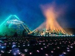Coldplay performing at Live At Worthy Farm (Anna Barclay)