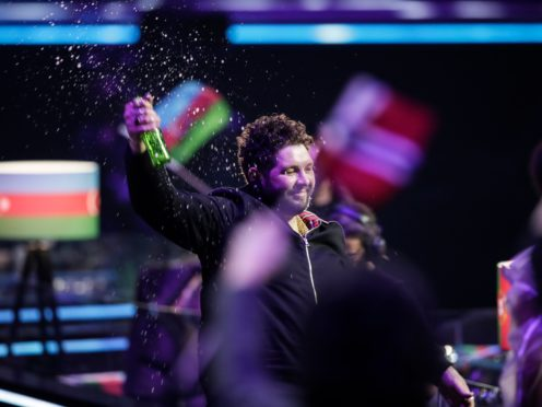James Newman reacts after receiving zero points during voting at the Grand Final of the Eurovision Song Contest at Ahoy arena in Rotterdam (AP)