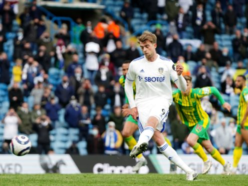 Patrick Bamford took his Premier League goals tally to 17 for the season with his penalty against West Brom (Jon Super/PA)