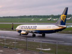 The Ryanair flight from Athens to Vilnius was forced to change course (Mindaugas Kulbis/AP)