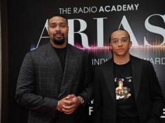 Jordan Banjo and Perri Kiely arriving for the Audio and Radio Industry Awards (Aaron Chown/PA)