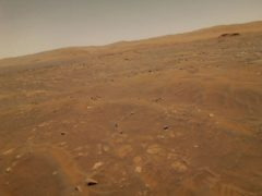 The surface of Mars captured by the Ingenuity helicopter (Nasa/JPL-Caltech via AP)