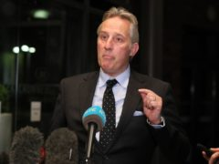Ian Paisley Jr speaks to the media, after leaving the Crowne Plaza Hotel, Belfast on the evening of Edwin Poots ratification as the new DUP leader. (Brian Lawless/PA)