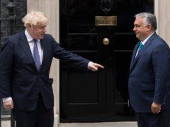 Boris Johnson met Viktor Orban on Friday (Stefan Rousseau/PA)