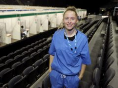 Lance Corporal Leah Clayton-Smith worked at the vaccination centre at the SSE Arena in Belfast (Brian Lawless/PA)