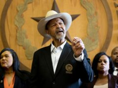 A news conference against Senate Bill 7 (Jay Janner/Austin American-Statesman via AP)
