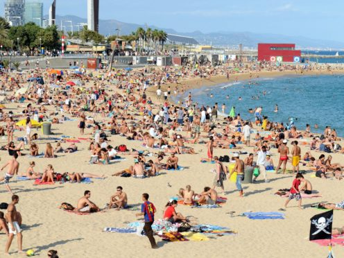 Downing Street has said people should not be holidaying in 'amber list' countries like Spain (Owen Humphreys/PA)