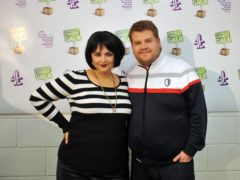 Ruth Jones and James Corden (Ian Nicholson/PA)
