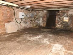 This is the first image released from inside the cellar of the Clean Plate cafe in Gloucester as police search for missing Mary Bastholm (Gloucestershire Police/PA)