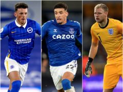 Ben White, Ben Godfrey and Aaron Ramsdale are in the England squad (PA)