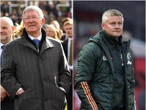 Sir Alex Ferguson (left) and Ole Gunnar Solskjaer (Jacob King/Dave Thompson/PA)