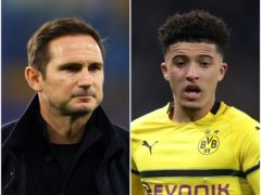 Frank Lampard and Jadon Sancho feature in today's football transfer file (Richard Heathcote/Adam Davy/PA).