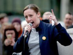 SNP MP Mhairi Black has urged young voters to 'stand up and be counted' in Thursday's Holyrood election (Jane Barlow/PA)