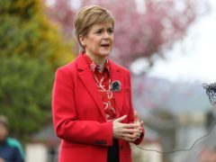Nicola Sturgeon appealed for votes (Russell Cheyne/PA)