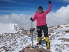 Vanessa O'Brien at the summit of Aconcagua in Argentina (Vanessa O'Brien)