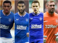 James Tavernier, Connor Goldson, Steven Davis and Allan McGregor (Andrew Milligan/Jeff Holmes/Ian Rutherford/PA)