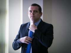 Douglas Ross insisted he is leading the Tory campaign in Scotland – not the Prime Minister (Jane Barlow/PA)