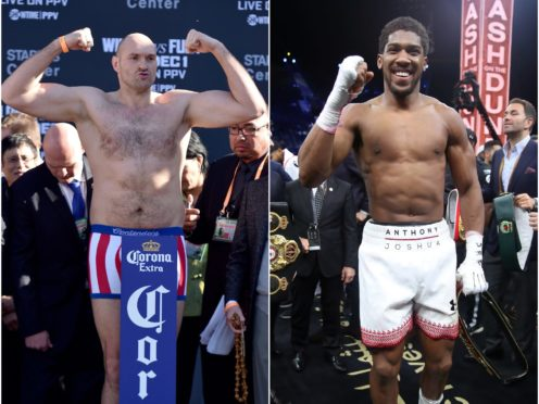 Tyson Fury (left) and Anthony Joshua had been expected to face off in August