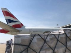 British Airways has announced it will fly an aircraft packed with 27 tonnes of medical aid to India (British Airways/PA)