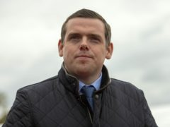 Scottish Conservative leader Douglas Ross said he wanted his party to become a 'credible alternative' to Nicola Sturgeon's SNP government (Trevor Martin/PA)
