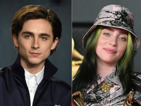 Timothee Chalamet and singer Billie Eilish (AP)