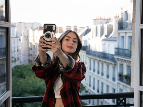 Lily Collins in Emily In Paris (Stephanie Branchu/Netflix)