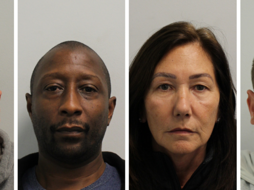 Andrew Doyle, 35; Derrick Canning, 50, both from west London; Catherine Roche, 63, and her son Joe, both from Fulham, south west London, were all jailed on Monday. (Organised Crime Partnership/PA)
