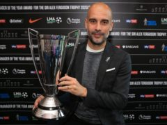 Manchester City boss Pep Guardiola has been named the LMA manager of the year (PA)