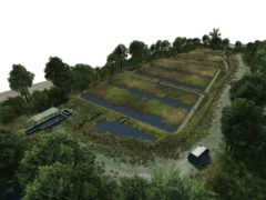 The design for the integrated wetland at Clifton wastewater treatment works near Doncaster (Yorkshire Water/PA)