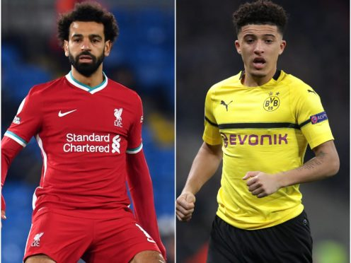 Mohamed Salah and Jadon Sancho feature in today's football transfer rumour file (Paul Ellis/Adam Davy/PA)