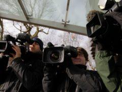 General view of TV camera operators.