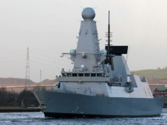 The MoD denied shots were fired by a Russian patrol boat towards HMS Defender (Andrew Milligan/PA)