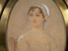 The portrait of novelist Jane Austen by James Andrews (Laura Lean/PA)