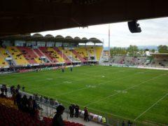 The Gilbert Brutus Stadium in Perpignan before the Catalan Dragons played Huddersfield (Ian Laybourn/PA)