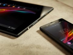 A Sony handout photo of the new tablet and smartphone (Sony/PA)