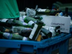 Bottles in a recycling bin in Glasgow. Around nine in 10 people are taking steps specifically to reduce their impact on the environment, according to Which? (John Linton/PA)