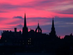 Edinburgh Castle and the city's Old Town, a World Heritage site (Jane Barlow/PA)