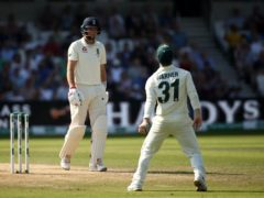 David Warner (right) was banned over a bar-room incident with Joe Root (Tim Goode/PA)