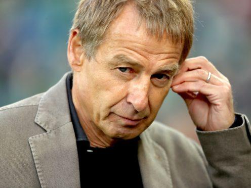 Former Tottenham striker Jurgen Klinsmann would be interested in managing in north London (Liam McBurney/PA)