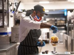 Britain saw a record surge in the number of workers on payrolls last month as hospitality and entertainment firms hired for indoor reopening, official figures have shown (Victoria Jones/PA)