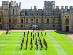 The Trooping the Colour ceremony will take place inside the Quadrangle at Windsor Castle (PA)