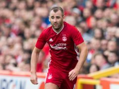 Niall McGinn, pictured, is happy to have Scott Brown at Aberdeen (Jeff Holmes/PA)