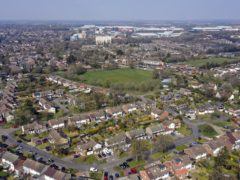 Houses in Hemel Hempstead. House sales fell back by nearly 4% between April and May, according to figures from HM Revenue and Customs (Steve Parsons/PA)