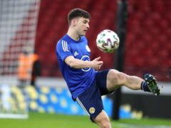Kieran Tierney has been passed fit for Scotland's game against England (Andrew Milligan/PA)
